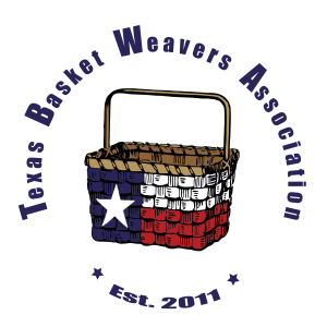 Texas Basket Weavers Association logo with title circling the basket