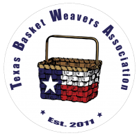 Texas Basket Weavers Association's logo in a white circle